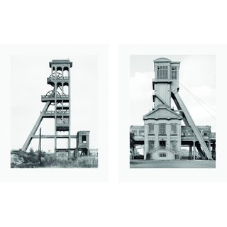 Bernd and Hilla Becher - Two Winding Towers, Photograph