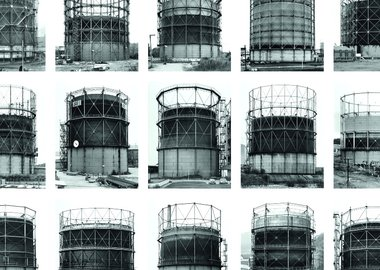 Bernd and Hilla Becher - Gas Tanks