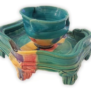 Tea Bowl (Cup) & Stand art for sale