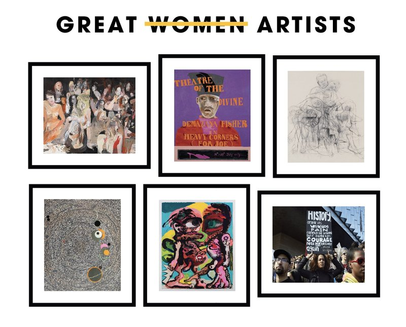 by bharti-kher-catherine-opie-cecily-brown-dana-schutz-jenny-saville-lubaina-himid - Great Women Artists Portfolio