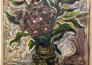 Billy Childish - lilies and gerbera