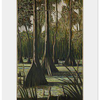 Through Cypress Trees art for sale