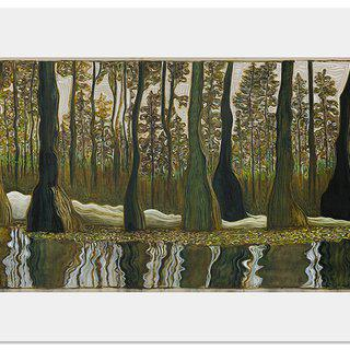 Cypress Trees (Morning) art for sale