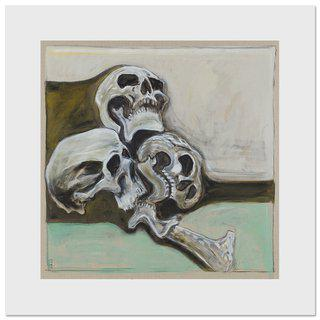 Billy Childish, Skulls with Femur