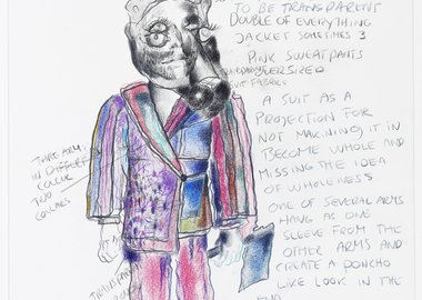 Bjarne Melgaard - Untitled (Fashion Drawing)