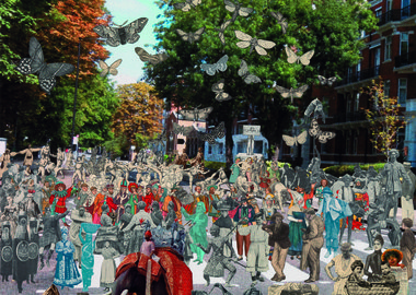 work by Peter Blake - London- Abbey Road Parade