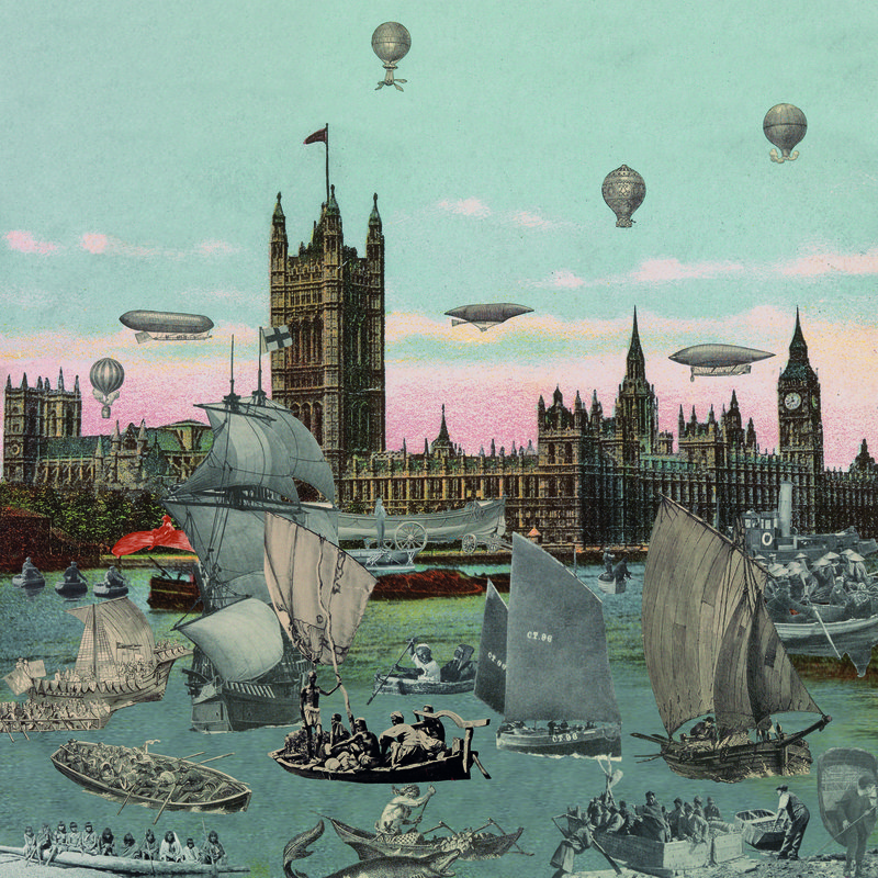 main work - Peter Blake, London- River Thames- Regatta