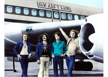 work by Bob Gruen - Led Zeppelin, NYC, 1973