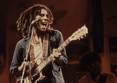 Bob Gruen - Bob Marley Performing on Stage