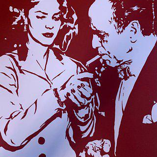 Lauren Bacall Lights Humphrey Bogart's Cigarette art for sale