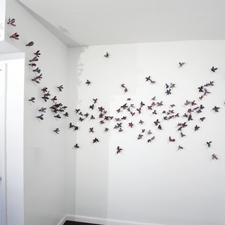 Bradley Sabin, Purple Floral Wall Installation