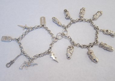 work by Breyer P-Orridge - B-Earth Death Charm Bracelet