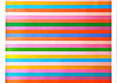 "Bridget Riley - ""Rose Rose"" Limited Edition Offset Lithograph Poster for 2012 Olympics with Hologram"