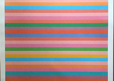 "work by Bridget Riley - ""Rose Rose"" Limited Edition Offset Lithograph P..."