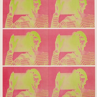 "Bruce Nauman, Untitled (2-color lithograph, published in conjunction with the exhibition ""Bruce Nauman: Holograms, Videotapes, and Other Works"")"