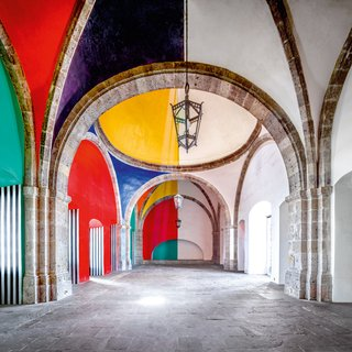 Hospicio Cabañas Capilla Tolsá from Daniel Buren work in situ Guadalajara I art for sale