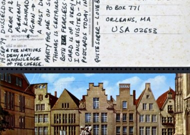 "Carl Andre - Letter from Dusseldorf: ...""very pleasant to visit Dorothee and Konrad..."""