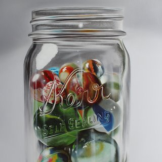 Marbles and Glass art for sale