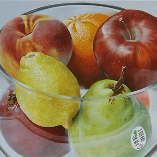 Cristal y frutas art for sale