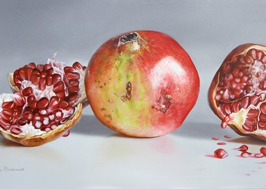 work by Carlos Bruscianelli - Pomegranates