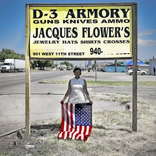 Self Portrait with D-3 Armory Sign, Claude, Texas art for sale