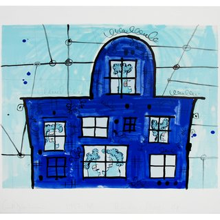 Blue House art for sale