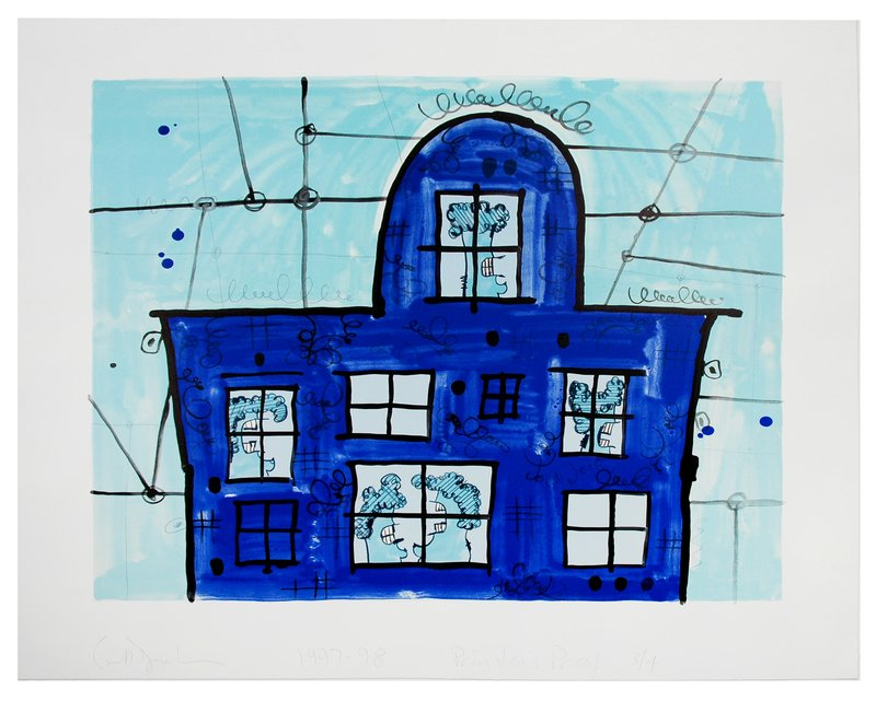 by carroll_dunham - Blue House