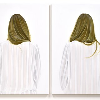 A Serious Contemplation of the Nature of Existence, diptych II art for sale