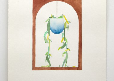 work by Chris Bogia - Archway with Hanging Plant
