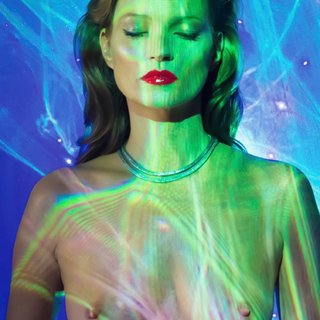 Kate Moss, She's Light (Laser 3) art for sale