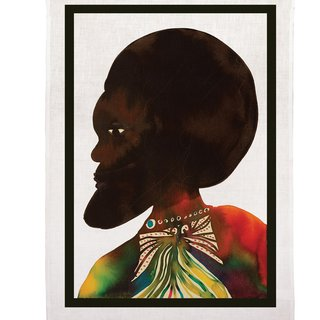 Afromuses (Man) Tea Towel art for sale