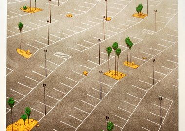 Chris Ballantyne - Parking Lot with Palm Trees