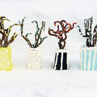 Winter Vase Cakes art for sale