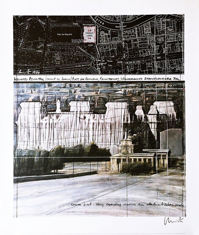 Christo and Jeanne-Claude - Wrapped Reichstag - Project for