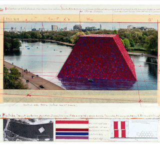 The Mastaba (Project for London, Hyde Park, Serpentine Lake) art for sale