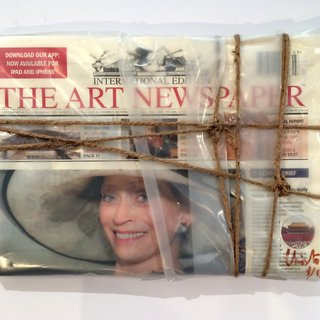 Wrapped The Art Newspaper art for sale