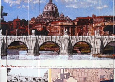 work by Christo and Jeanne-Claude - Ponte Sant' Angelo wrapped