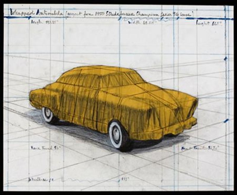 Christo and Jeanne-Claude - Wrapped Automobile (Project for 1950