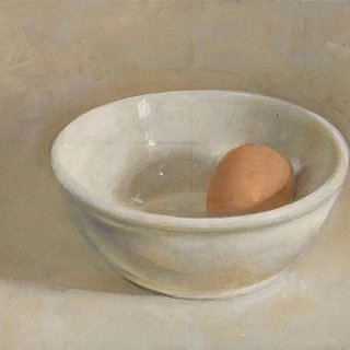 Egg and White Bowl art for sale