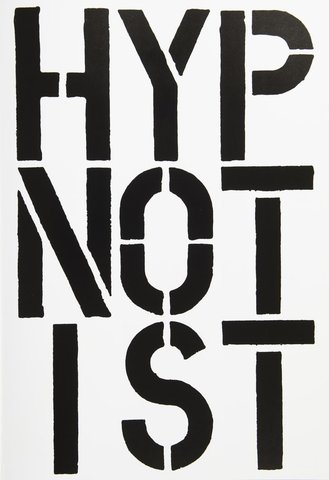 Christopher Wool - Page from Black Book (Hypnotist), Print
