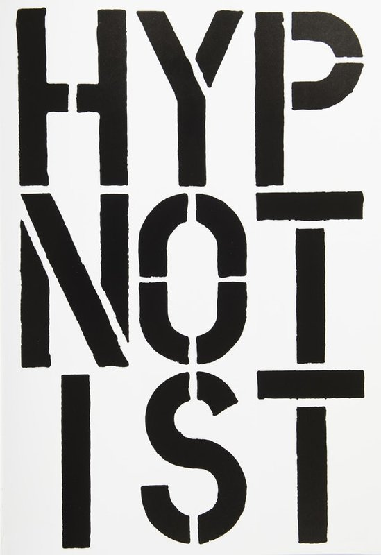 Christopher Wool, Page from Black Book (Hypnotist)