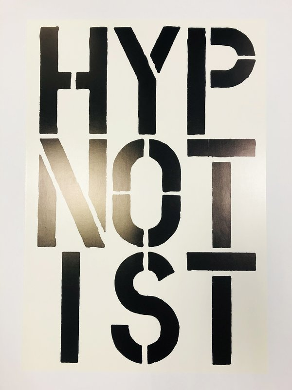 Christopher Wool, Page from Black Book (Hypnotist) -
