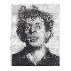 Phil (from the Rubber Stamp Portfolio), by Chuck Close