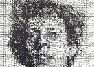 Chuck Close - Phil (from the Rubber Stamp Portfolio)