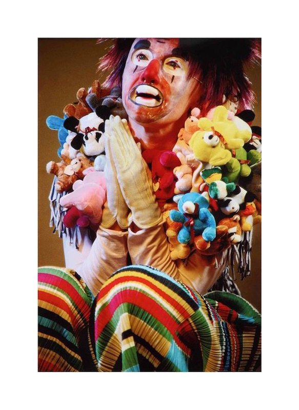 by cindy_sherman - Untitled (stuffed animals clown)