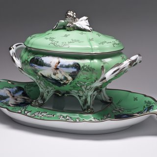 Madame de Pompadour (né Poisson), Apple Green Soup Tureen art for sale