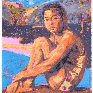 The Swimmer art for sale