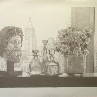 New York Still Life (Gray) art for sale