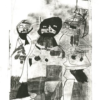 Monoprint Men art for sale