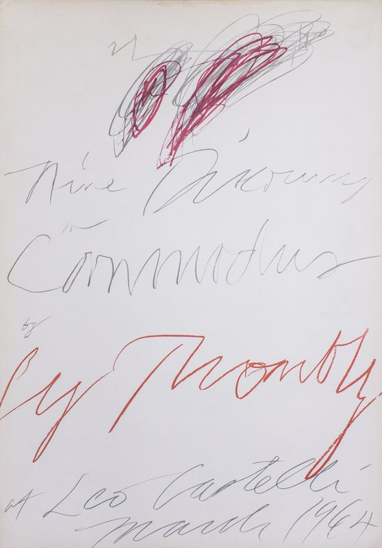 Cy Twombly - Nine Discourses on Commodus by Cy Twombly at Leo ...